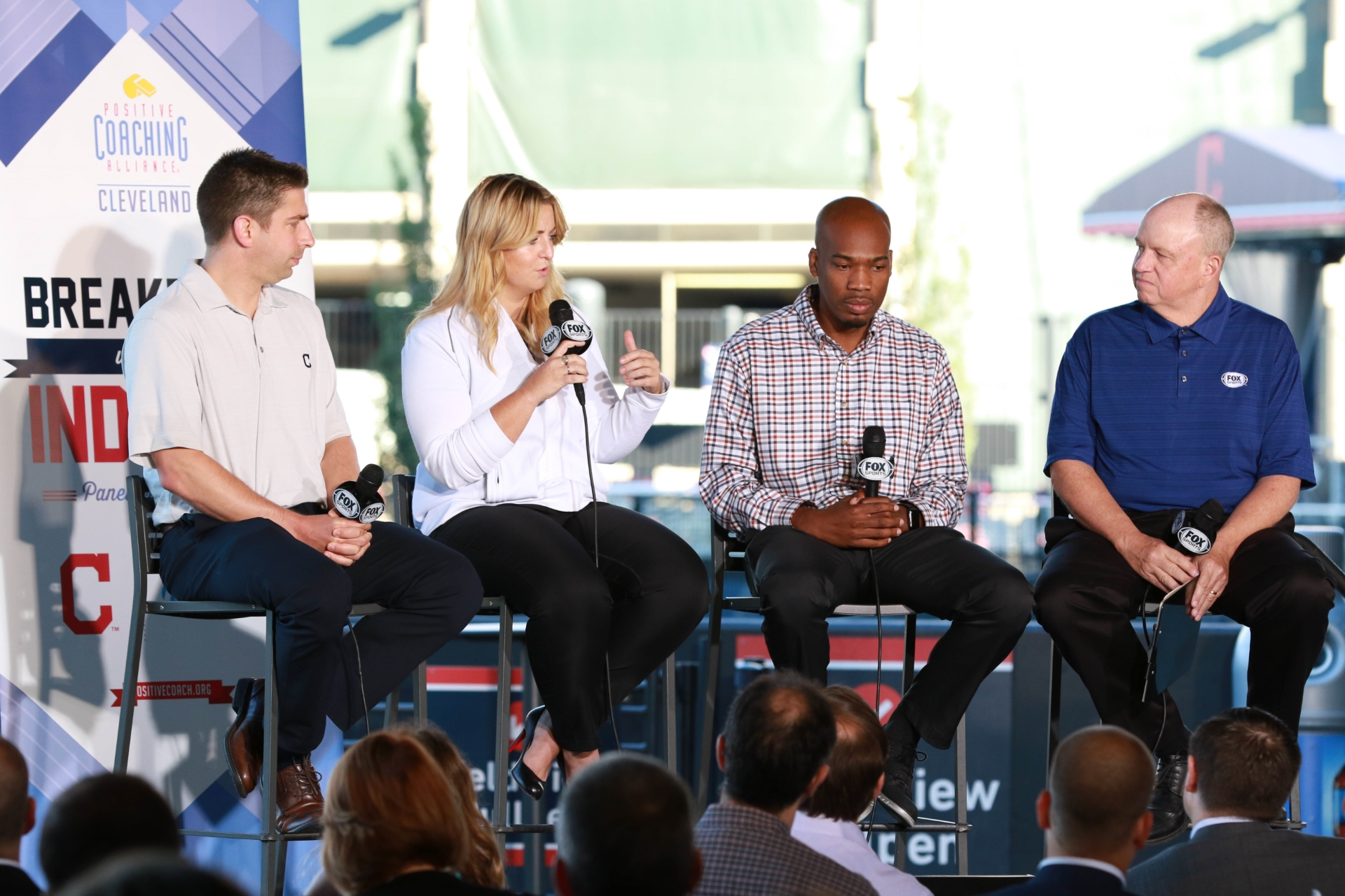 Mike Chernoff, Ceci Clark, James Harris, and FOX Sports Ohio Moderator, Jeff Phelps