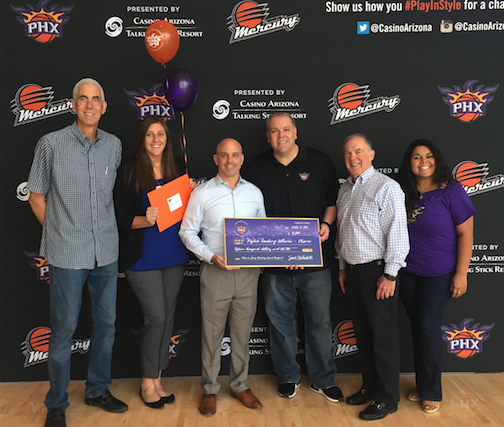 PCA Staff are joined by Phoenix Suns Charities