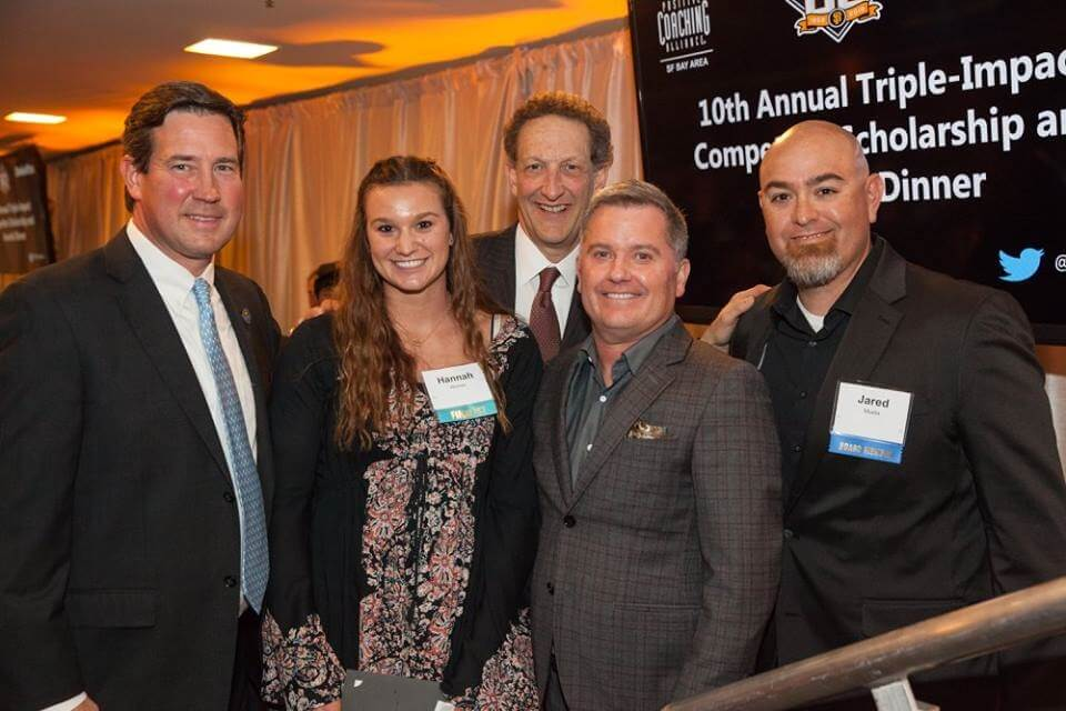 SF Giants leadership with scholarship winner Hannah Womer