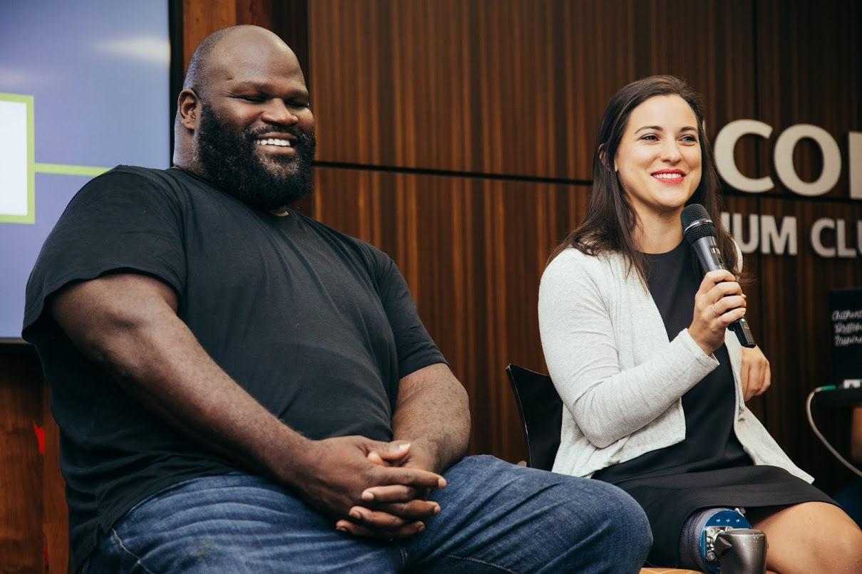 Mark Henry shares a laugh with Lacey Henderson